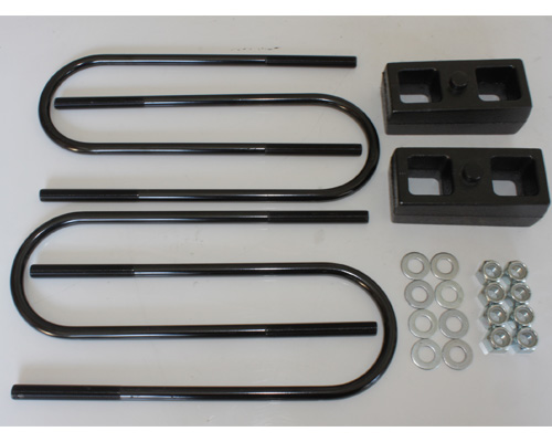 Fat Bob's Garage, Part # FBB2-1113-4UB, Dodge 2500/3500 Rear Lift Block Kit 4WD 2003-2012 LARGE