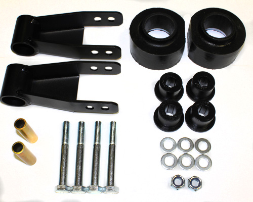 "Jeep Cherokee 2"" Front Lift Kit w/1.5""-2"" Adjustable Rear Shackles 1984-2001 LARGE"