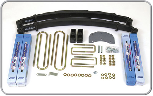 "Fat Bob's Garage, BDS Part #308H, Ford F350 4"" Front 3"" Rear Suspension System 4WD 1980-1996"