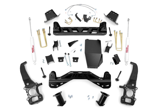"Fat Bob's Garage, Rough Country Part #576.2, Ford F150 4WD 6"" Suspension Lift Kit 4WD 2004-2008_THUMBNAIL"