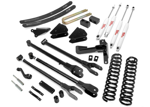 "Fat Bob's Garage, Rough Country Part #580.2, Ford F250/F350 SuperDuty 6"" 4-Link Suspension Lift Kit 4WD 2005-2007"