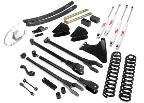 "Fat Bob's Garage, Rough Country Part #584.2, Ford F250/F350 SuperDuty 6"" 4 Link Suspension Lift Kit 4WD 2008-2010"