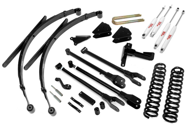 "Fat Bob's Garage, Rough Country Part #590.2, Ford F250/F350 SuperDuty 8"" 4-Link Suspension Kit 4WD 2005-2007_LARGE"