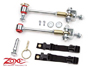 "Fat Bob's Garage, Zone Offroad Part #J5451, Jeep Wrangler 0""-2"" of Lift Anti Sway Bar Links Front Disconnects 1997-2006"