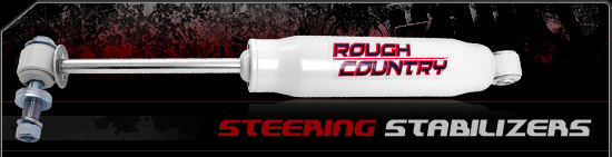 Fat Bob's Garage, Rough Country Part #87323.20, Dodge Ram 1500 2500 3500 Steering Stabilizer 1994-2012 THUMBNAIL