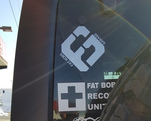 Fat Bob's Garage - Square Logo Decal