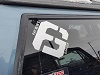 Fat Bob's Garage - Square Logo Decal Mini-Thumbnail