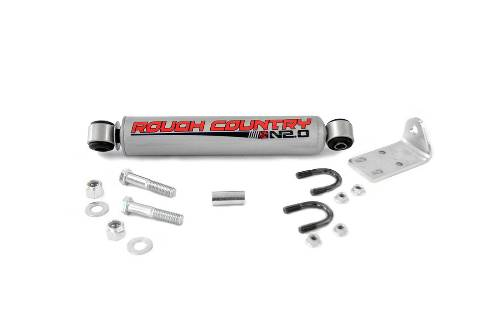 Fat Bob's Garage, Rough Country Part #87320.2, Chevrolet/GMC Big Bore Steering Stabilizer 1999-2006 LARGE