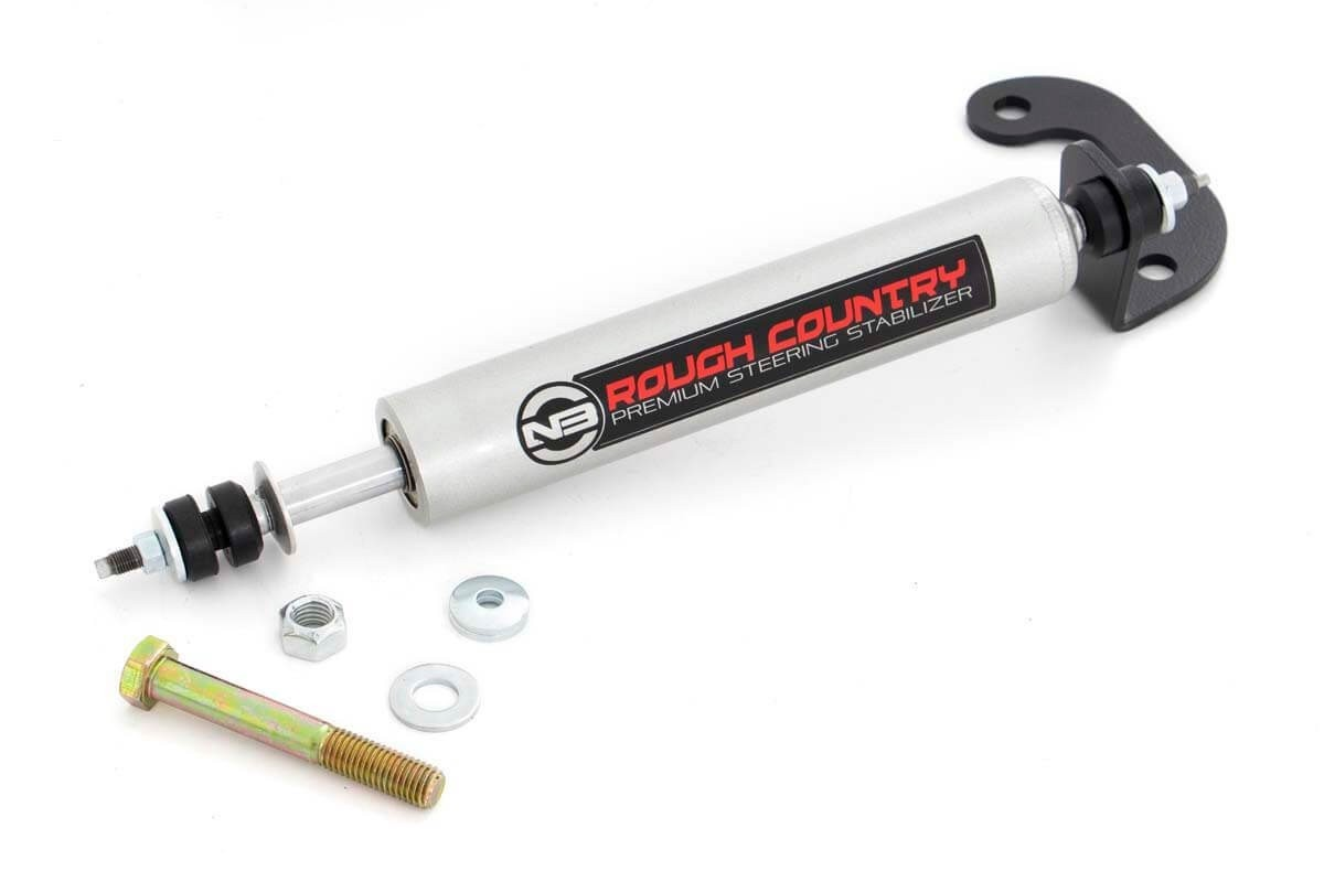 Fat Bob's Garage, Rough Country Part #87371.2, Chevrolet/GMC Pickup Steering Stabilizer 1988-1998 MAIN