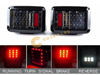 Jeep Wrangler JK Brake Lights Clear Lens 07-18 THUMBNAIL