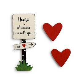 Home is with You Magnet Set