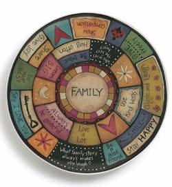 Family Values Round Platter