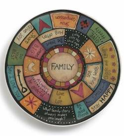 Family Values Round Platter THUMBNAIL
