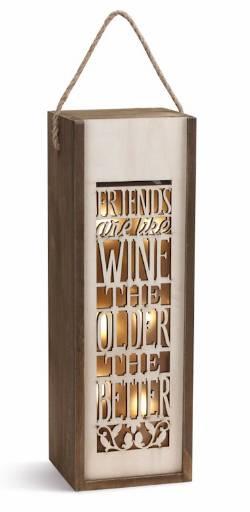 Friends are Like Wine Lantern