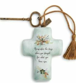 cross figure with flowers and prayer sentiment THUMBNAIL