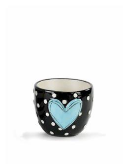 Blue Heart Vase