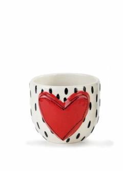 Red Heart Vase
