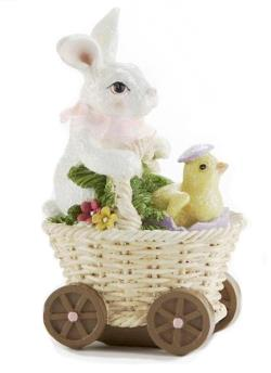 Easter Bunny in Basket buggy with chick THUMBNAIL