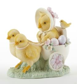 Chick pulling cart Easter Figure THUMBNAIL