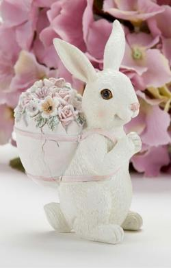 Easter Bunny wearing floral backpack THUMBNAIL