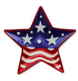 Patriotic  Star Plate