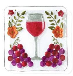 Wine Glass Plate