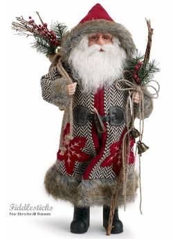 Herringbone Santa