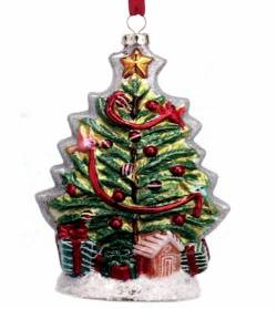 Blown Glass Christmas Tree Ornament THUMBNAIL
