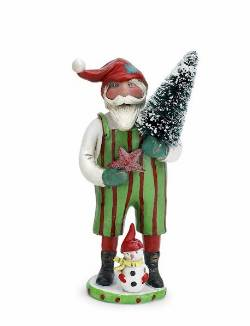 Santa with Tree and Snowman