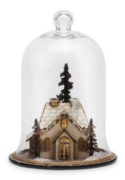 Lit House Scene Cloche - Large THUMBNAIL