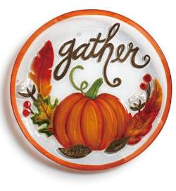 Glass Platter with Gather Pumpkin THUMBNAIL