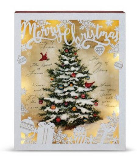 Lit Christmas Tree Shadowbox LARGE