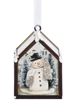 Snowman in Conservatory Ornament THUMBNAIL