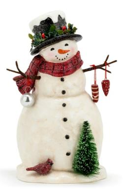 Snowman with Red Scarf and Top Hat THUMBNAIL