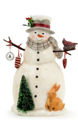 Snowman with Cardinal and Rabbit THUMBNAIL