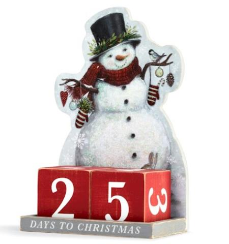 Winter Wonderland Snowman Christmas Countdown LARGE