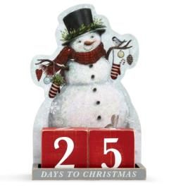 Winter Wonderland Snowman Christmas Countdown THUMBNAIL