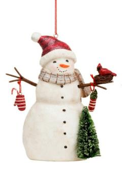Winter Wonderland Snowman Ornament THUMBNAIL