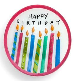 Birthday Candles Round Plate THUMBNAIL