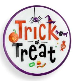 Trick or Treat Round Platter THUMBNAIL