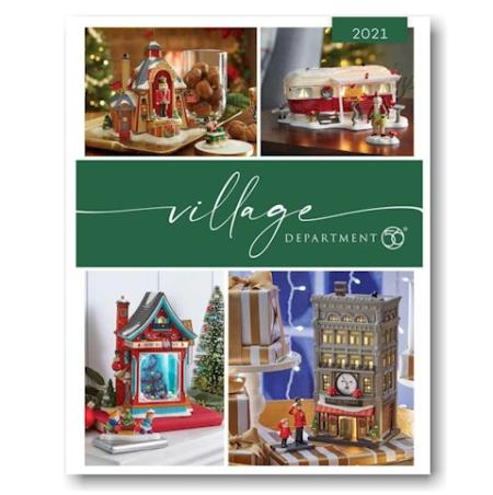 Department 56 village catalog book which includes information on collectible villages for seasonal decorating MAIN