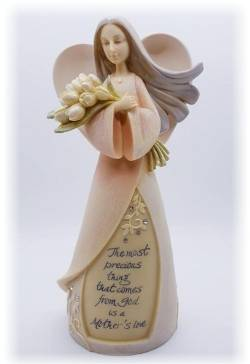 Angel with bouquet of Tulips THUMBNAIL