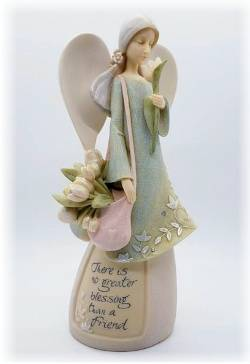 Angel with Tulips in messenger bag figure THUMBNAIL
