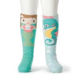 Mermaid and Seahorse Knee Socks