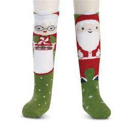 Santa and Reindeer Knee Socks THUMBNAIL