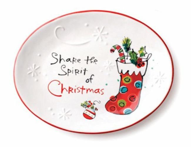 Share the Spirit Oval Plate MAIN