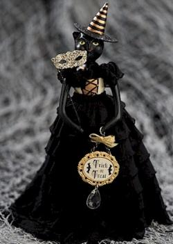 new 2021 Black Cat Witch figure with mask and sign THUMBNAIL