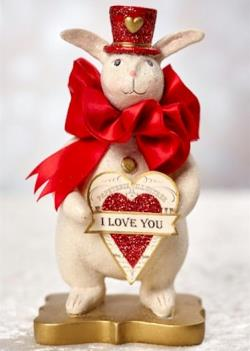 Valentine Love Rabbit holding I love you heart. THUMBNAIL