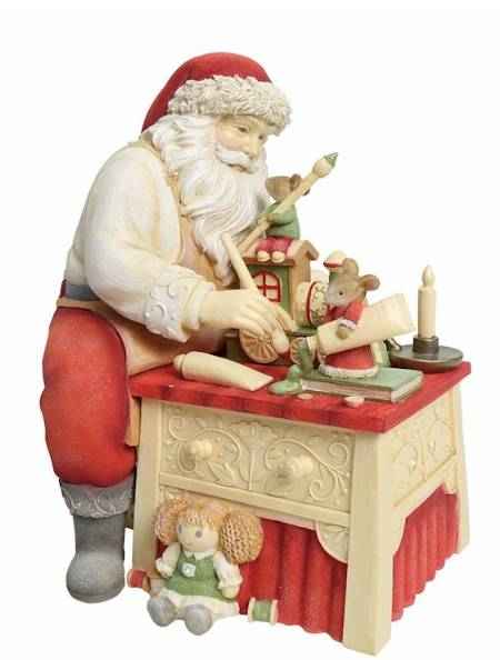 Santa Painting toys with Mice LARGE