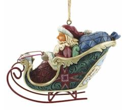 Santa in Sleigh Event Ornament THUMBNAIL